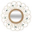 ratán espejo flor d56 pop, 2- veces surtido color