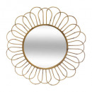 espejo de metal asco d72, beige