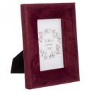 photo frame in velvet 10x15 poetry, pink