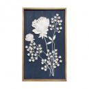 wall decoration metal / bs flower 47x77, blue