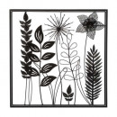 wall decoration metal sheets 40x40, black