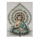 lienzo impreso / 58x78 Buda, azul