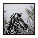 gedrukt canvas / cad / re zebra 68x68, veelkleurig