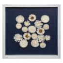 deco marco 3d flor 55x55, blanco