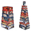 wholesale Small Furniture: rectangle boxes x16 traditional printed