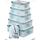wholesale Household Goods: x6 winter glitter rectangle boxes