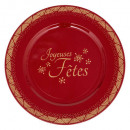 wholesale Crockery: plate printed presentation jf 33cm rg, 2-fold