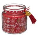 bougie parfumées pm + breloq 80 grs rouge / or