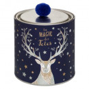 scented candle can + pom 150gr christmas ball