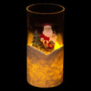 personal led candle in glass d7.5xh15, 3-fold asso