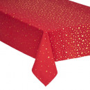 wholesale Table Linen: tablecloth coton red stars 140x240, 2- times assor