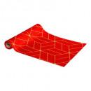 groothandel Speelgoed: zakdoek velvet heet 28x300cm rg, 4- maal geassorte