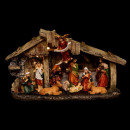 Christmas crib led 11 santons 3 led h18cm