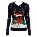 groothandel Woondecoratie: grappige kersttrui f sm / l-xl, 4- maal geassortee