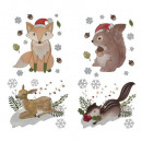 wholesale Crafts & Painting: animal glitter sticker 28x34cm, 4- times assorted
