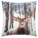 wholesale Cushions & Blankets: Pillow forest reindeer print 40cm
