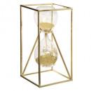 reloj de arena obj vidrio metal h20cm, 2- veces su