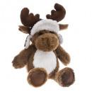 wholesale Dolls &Plush: plush elan brown chapka h25cm