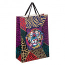 g + gm tiger pop up gift bag