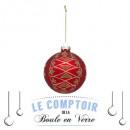 Christmas ball glass 100mm corsage, 2- times assor