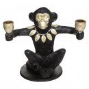 candle holder monkey 2 candle 26cm