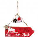 Christmas decoration cag wood sign printed 18cm