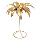 metal candle holder golden palm h30cm