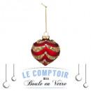 hurtownia Dekoracje: bombka świąteczna 80 mm perłowa słoma, 2-krotnie a
