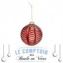80mm glass christmas ball wrapped, 2- times assort