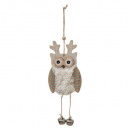 Christmas decoration cag animals with bell, 6-fait