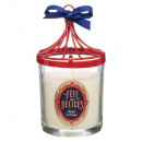 red carousel metal scented candle 200g