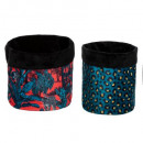 jungle print txt container x2