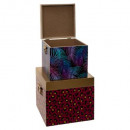 jungle print wood container x2