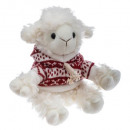 plush sheep red sweater h19cm