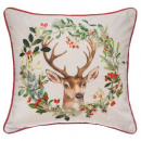 Pillow traditional reindeer print 40cm
