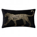 Pillow black leopard print 30x50