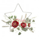 hanging star flowers 33cm 2ass, 2- times assorted