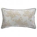 Pillow floral white gold 30x50cm