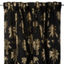 palm tree embroidered curtain 142x250
