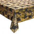 gold leaf printed tablecloth 140x240cm