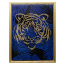 tiger head canvas pendant light l50cm