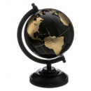 obj globe earth black gold h22cm