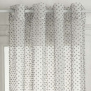sheer curtains lucia gray 140x260, gray