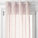 sheer curtain lucia pink 140x260, pink