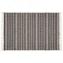 alfombra delhi reversible 120x170, blanco y negro