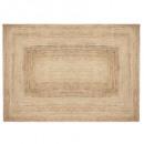 alfombra de yute natural 160x230, beige medio