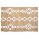 alfombra de yute con mechones 120x170, beige medio