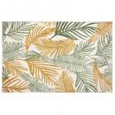 alfombra de hojas de howea 120x170, verde