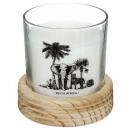 geurkaars glas + safari hout 380g, 2-voudig