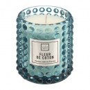 scented candle in relief glass 175g, 4- times asso